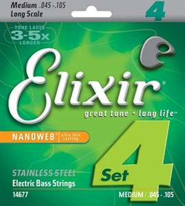 Elixir 14677 Nanoweb Stainless Steel