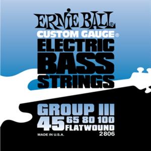 Струны с плоской обмоткой Ernie Ball 2806 45-100 Flat Wound