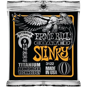 Ernie Ball 3122 9-46 Coated Titanium Reinforced