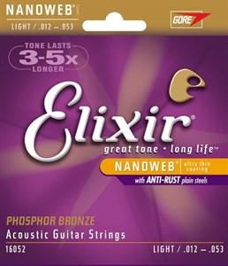 Струны Elixir 12-53 Phosphor Bronze Light для акустической гитары