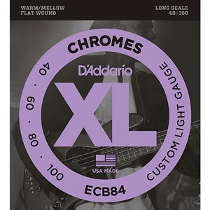 40-100 DAddario ECB84 Chromes Custom Light