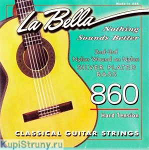 LA BELLA 860 Silver Plated Nylon (hard)
