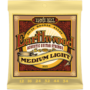 ERNIE BALL 2003 Earthwood 80/20 Bronze medium light 12-54