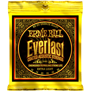 ERNIE BALL 2560 Everlast Coated 80/20 Bronze extra light 10-50