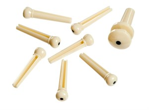 Bridge End Pins (фиксаторы струн, колышки-заглушки для акустической гитары), 7 штук - слоновая кость