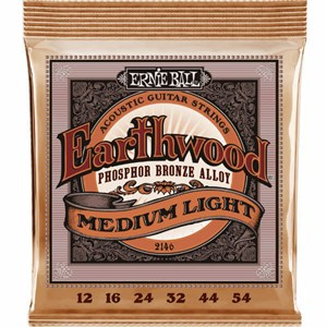 ERNIE BALL 2146 Earthwood Phosphor Bronze medium light 12-54