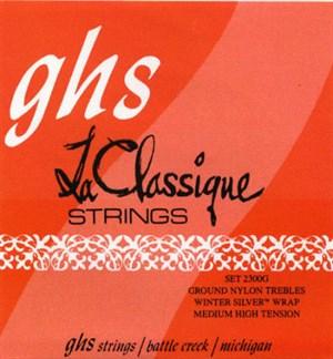 GHS (2300G) La Classique Nylon Trebles, Winter Silver Bass
