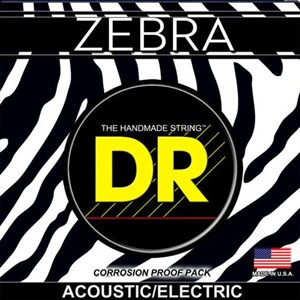 Струны DR Zebra ZAE-12 Acoustic/Electric light 12-54, bronze+nickel