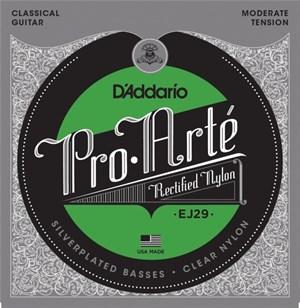 Струны D'ADDARIO EJ29 Pro-Arte (clear nylon silver, мягкое натяжение)