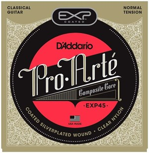 Струны D'ADDARIO EXP45 Coated (nylon+silver, среднее натяжение) - фото 7082