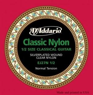 Струны D'ADDARIO EJ27N 1\2 Classic (для уменьшенной детской гитары)