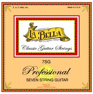 LA BELLA 7SG 7-string Classic Professional (clear nylon silver)