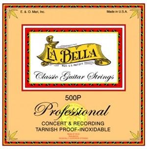 Струны LA BELLA 500P Professional (плоская обмотка, clear nylon silver) - фото 7134