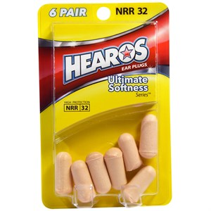 Беруши для сна Hearos Ultimate Softness Ear Plugs 6 Pair (12 штук) - фото 7195