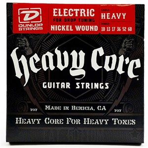Струны 10-60 DUNLOP DHCN1060-6 Heavy Core 6-string - фото 7235