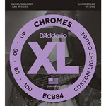 40-100 DAddario ECB84 Chromes Custom Light