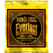 ERNIE BALL 2556 Everlast Coated 80/20 Bronze medium light 12-54