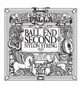 2-я струна ERNIE BALL 1522 (черный нейлон, шарик на конце)