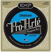 Струны D'ADDARIO EXP46 Coated (nylon+silver, сильное натяжение)
